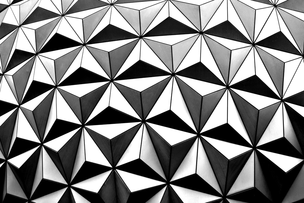 Close up of the Epcot ball