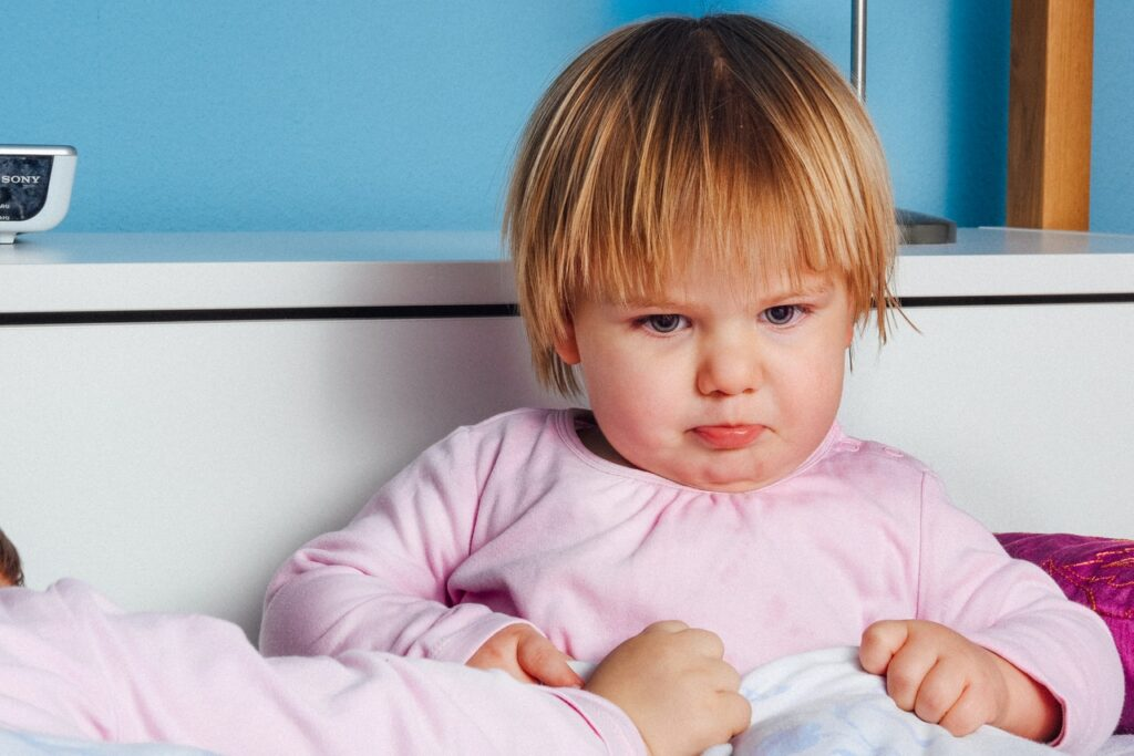 Child looking upset